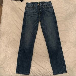 7 For All Mankind Kinmie Crop Jeans